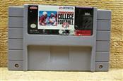 NINTENDO Nintendo SNES Game BILL WALSH COLLEGE FOOTBALL